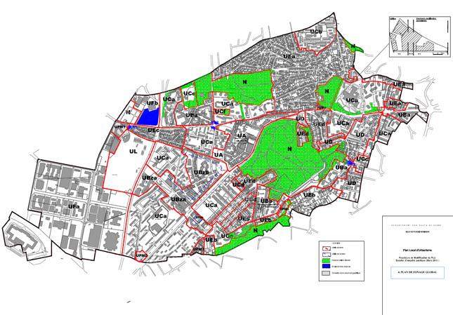 Plan de zonage et r glementation ville de plessis robinson - Piscine du hameau plessis robinson ...